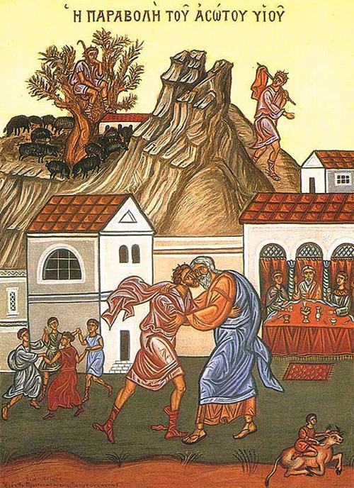 Притча о блудном сыне. Современная греческая икона