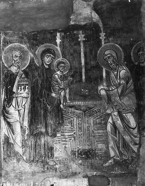 Фреска новгородской церкви Спаса на Нередице. 1199г