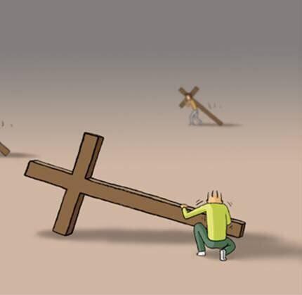 И спелил там у креста конец