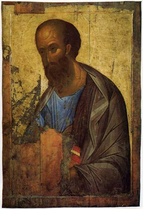 Икона Апостол Павел, автор Андрей Рублев