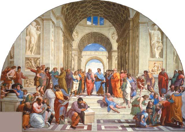 Фреска Рафаэля Афинская школа