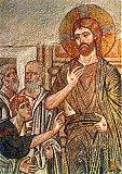 Уверение Фомы. Мозаика храма в Дафии (Греция). Конец XI века.