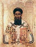 Святитель Григорий Палама, архиепископ Фессалонитский.             Икона XIV века.