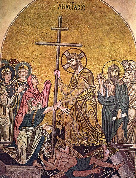 Сошествие во ад Начало XI в, монастырь Дафни, Афины, Греция